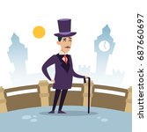 english gentleman and culture... | Shutterstock .eps vector #687660697