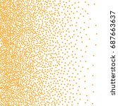 abstract halftone dots. yellow... | Shutterstock .eps vector #687663637