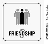 happy friendship day text for... | Shutterstock . vector #687676663