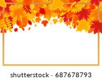 autumn background. colorful... | Shutterstock .eps vector #687678793
