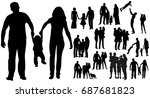 vector  isolated silhouette... | Shutterstock .eps vector #687681823