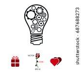 light   bulb icon  vector best...   Shutterstock .eps vector #687688273