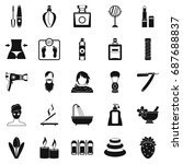 cosmetology icons set. simple... | Shutterstock .eps vector #687688837