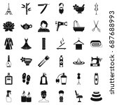 make up icons set. simple style ... | Shutterstock .eps vector #687688993