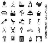 secular reception icons set.... | Shutterstock .eps vector #687698083