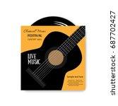 vinyl disc in envelope  music... | Shutterstock .eps vector #687702427