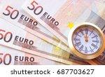 Euro Banknotes Like Background...