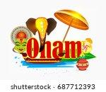 creative elements  elephant... | Shutterstock .eps vector #687712393