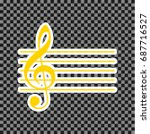 music violin clef sign. g clef. ... | Shutterstock .eps vector #687716527
