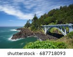 one of the many bridges along... | Shutterstock . vector #687718093