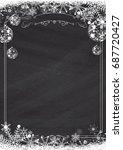 a4 size vertical cafe menu  ... | Shutterstock . vector #687720427