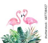 Couple Pink Flamingos....