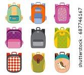 school  college or tourist... | Shutterstock .eps vector #687746167