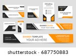 set of yellow web banners.... | Shutterstock .eps vector #687750883
