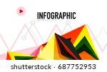 modern triangle presentation... | Shutterstock . vector #687752953