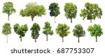 collection of isolated trees on ...   Shutterstock . vector #687753307