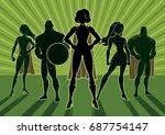 team of superheroes.  | Shutterstock .eps vector #687754147