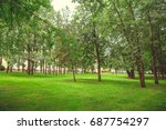 park in the city center in... | Shutterstock . vector #687754297