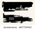 vector set of black brush... | Shutterstock .eps vector #687754963