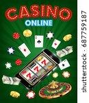 casino online smartphone with... | Shutterstock .eps vector #687759187
