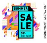 summer sale memphis style web... | Shutterstock .eps vector #687767587