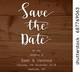 save the date card  wedding... | Shutterstock .eps vector #687769063