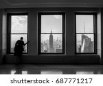midtown  new york  usa   black... | Shutterstock . vector #687771217