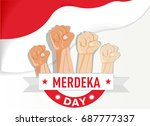 hand fist the symbol of... | Shutterstock .eps vector #687777337