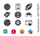 sport balls icons. volleyball ...