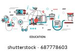 modern flat thin line design... | Shutterstock .eps vector #687778603