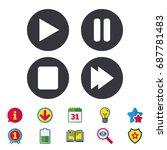 player navigation icons. play ...