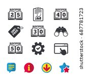 cookbook icons. 25  30  40 and...