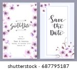 save the date card  wedding... | Shutterstock .eps vector #687795187