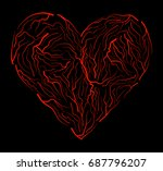 vein heart vector symbol icon... | Shutterstock .eps vector #687796207