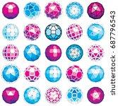 set of vector dimensional... | Shutterstock .eps vector #687796543