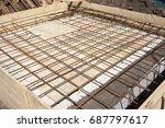 armature. construction works.... | Shutterstock . vector #687797617