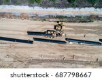 aerial view of construction of... | Shutterstock . vector #687798667