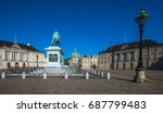 amalienborg  the home of the... | Shutterstock . vector #687799483