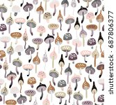 seamless doodle pattern with...   Shutterstock .eps vector #687806377
