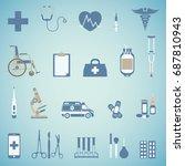 set of medical icon.