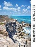 rocky coastline of south end ... | Shutterstock . vector #687813343