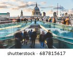 london and st paul cathedral at ... | Shutterstock . vector #687815617
