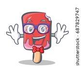 geek ice cream character cartoon | Shutterstock .eps vector #687829747