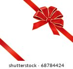 card with red gift bow. vector... | Shutterstock .eps vector #68784424