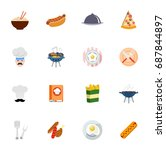 cooking icons   Shutterstock .eps vector #687844897