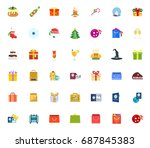 holiday icons | Shutterstock .eps vector #687845383