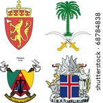 a set of arms of iceland ... | Shutterstock .eps vector #68784838