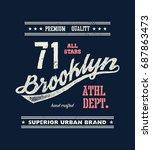 vintage brooklyn typography  t... | Shutterstock .eps vector #687863473