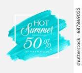 hot summer sale 50  off sign... | Shutterstock .eps vector #687869023
