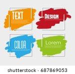 ink brush strokes. abstract... | Shutterstock .eps vector #687869053